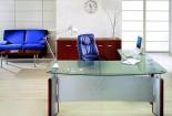 שולחן מנהלים מזכוכית