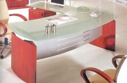 A-20 שולחן מנהלים מעוצב עם זכוכית